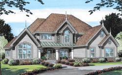 Traditional Style Home Design Plan: 46-564