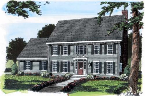 Colonial Style Floor Plans Plan: 46-565