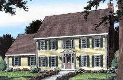 Colonial Style Floor Plans Plan: 46-572
