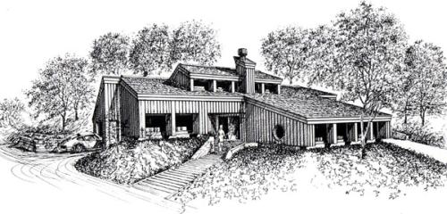 Contemporary Style House Plans Plan: 46-584