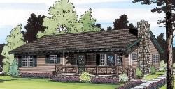 Country Style Floor Plans Plan: 46-587