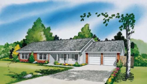 Traditional Style Home Design Plan: 46-590