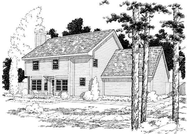 Rear Elevation Plan: 46-593
