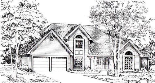 Traditional Style Home Design Plan: 46-596