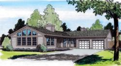 Contemporary Style Home Design Plan: 46-603