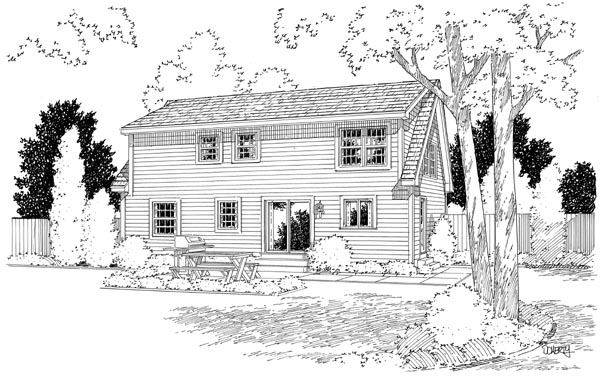 Rear Elevation Plan: 46-606