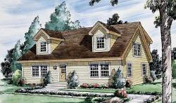 Colonial Style Home Design Plan: 46-606
