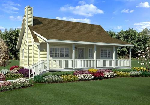 Country Style Home Design Plan: 46-614