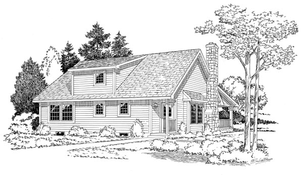 Rear Elevation Plan: 46-615