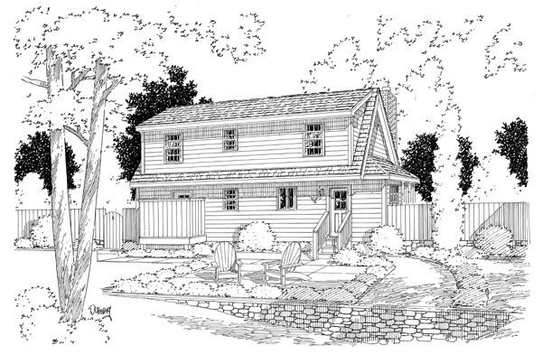 Rear Elevation Plan: 46-616