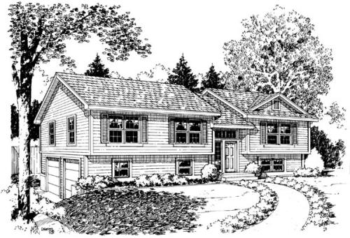 Traditional Style Home Design Plan: 46-620