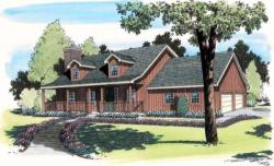 Country Style Home Design Plan: 46-623