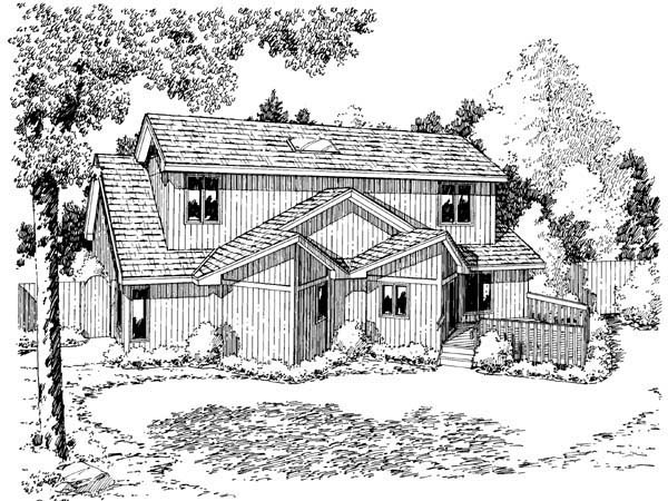 Rear Elevation Plan: 46-624