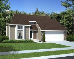 Contemporary Style Home Design Plan: 46-624