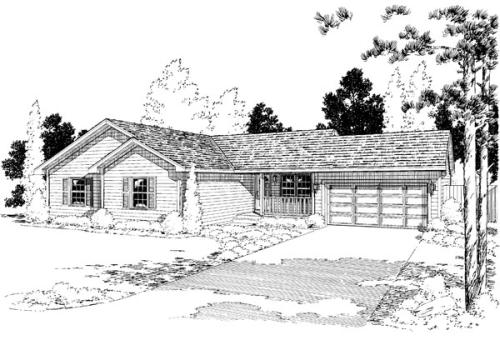 Traditional Style Home Design Plan: 46-638