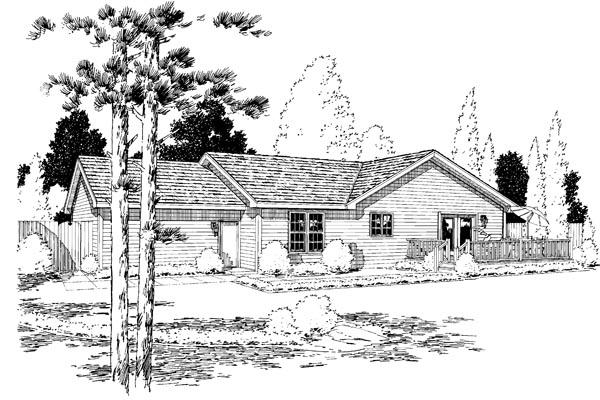 Rear Elevation Plan: 46-638