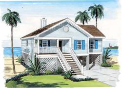 Coastal Style Home Design Plan: 46-744
