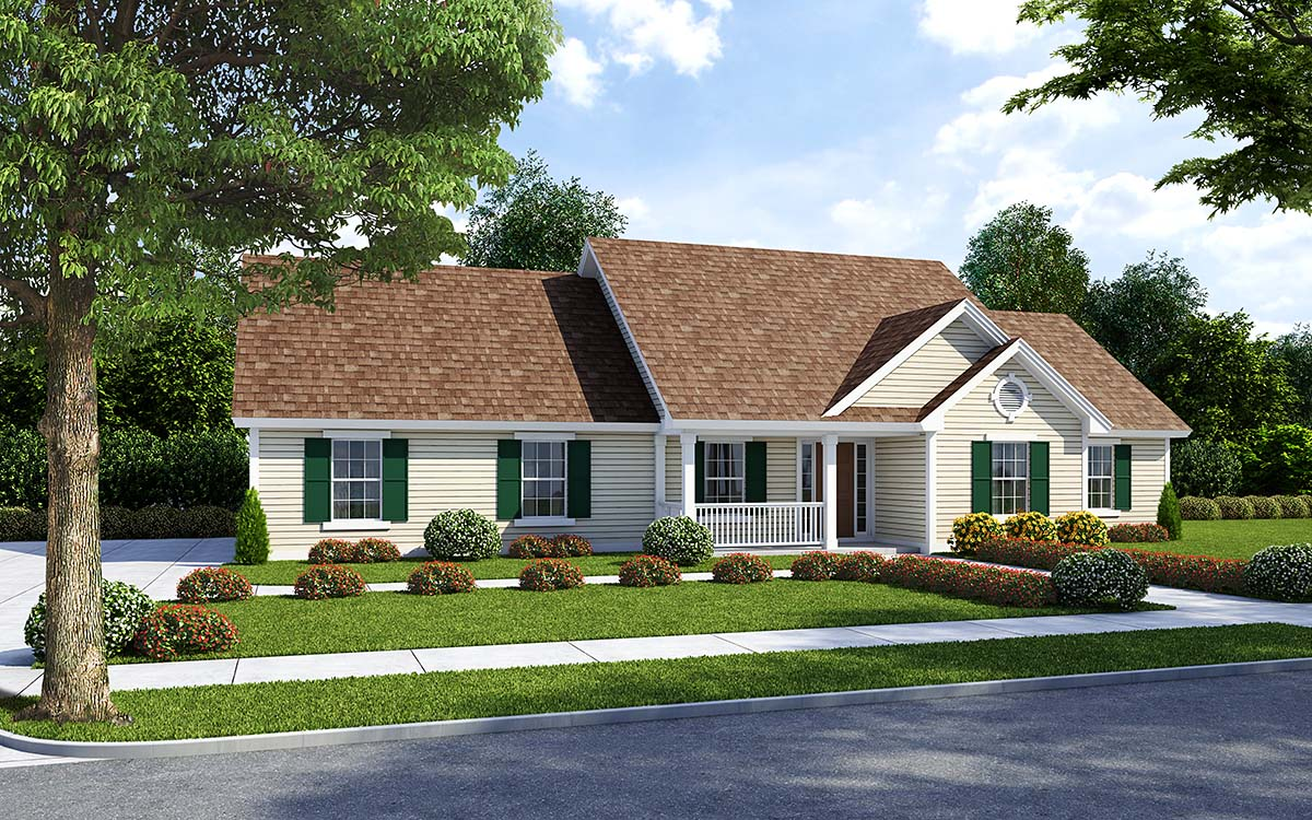 Traditional Style House Plans Plan: 46-745
