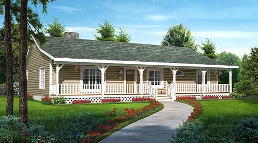 Country Style Home Design Plan: 46-749