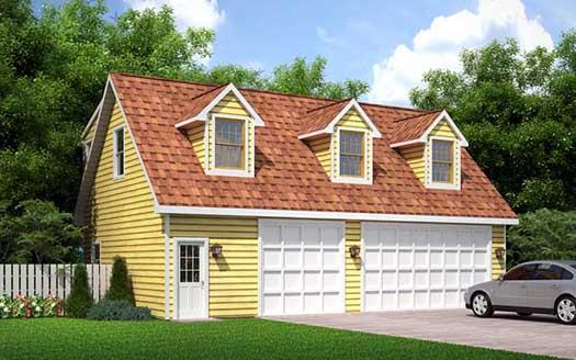 Cape-cod Style Home Design Plan: 46-753
