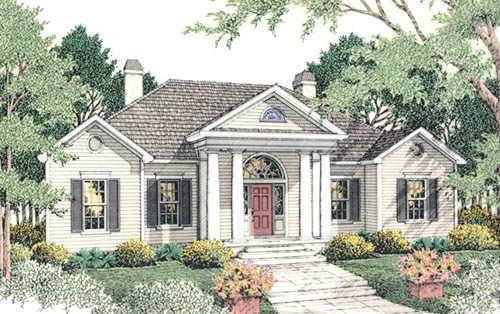 Georgian Style House Plans Plan: 47-120