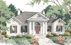 Georgian Style Home Design Plan: 47-120
