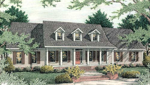 Country Style Home Design 47-124
