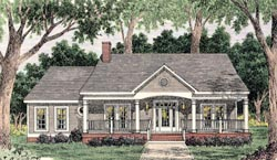 Country Style Home Design Plan: 47-161