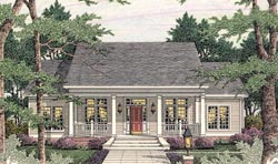 Southern Style Home Design 47-182