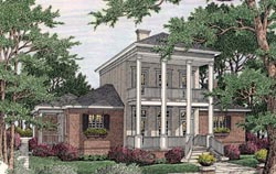 Plantation Style Home Design Plan: 47-193