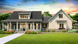 Modern-Farmhouse Style House Plans Plan: 47-199