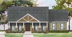 Craftsman Style Home Design Plan: 47-203