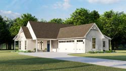 French-Country Style Floor Plans Plan: 47-210