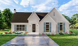 Modern-Farmhouse Style Home Design Plan: 47-364