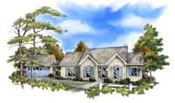 Southern Style Floor Plans Plan: 48-104