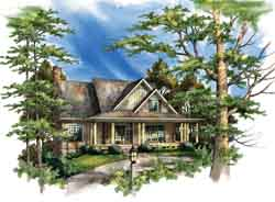 Country Style Home Design Plan: 48-106
