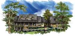 Country Style Floor Plans Plan: 48-107