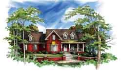 Southern Style Home Design Plan: 48-108