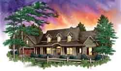 Country Style Floor Plans Plan: 48-109