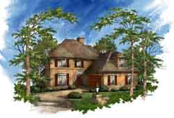 Traditional Style Home Design Plan: 48-110