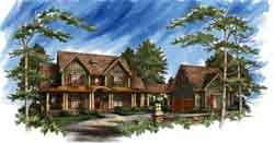 Southern Style Home Design Plan: 48-112
