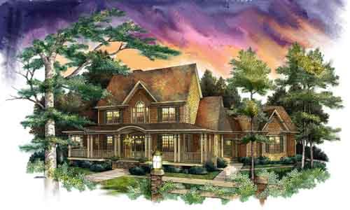 Farm Style Home Design Plan: 48-113