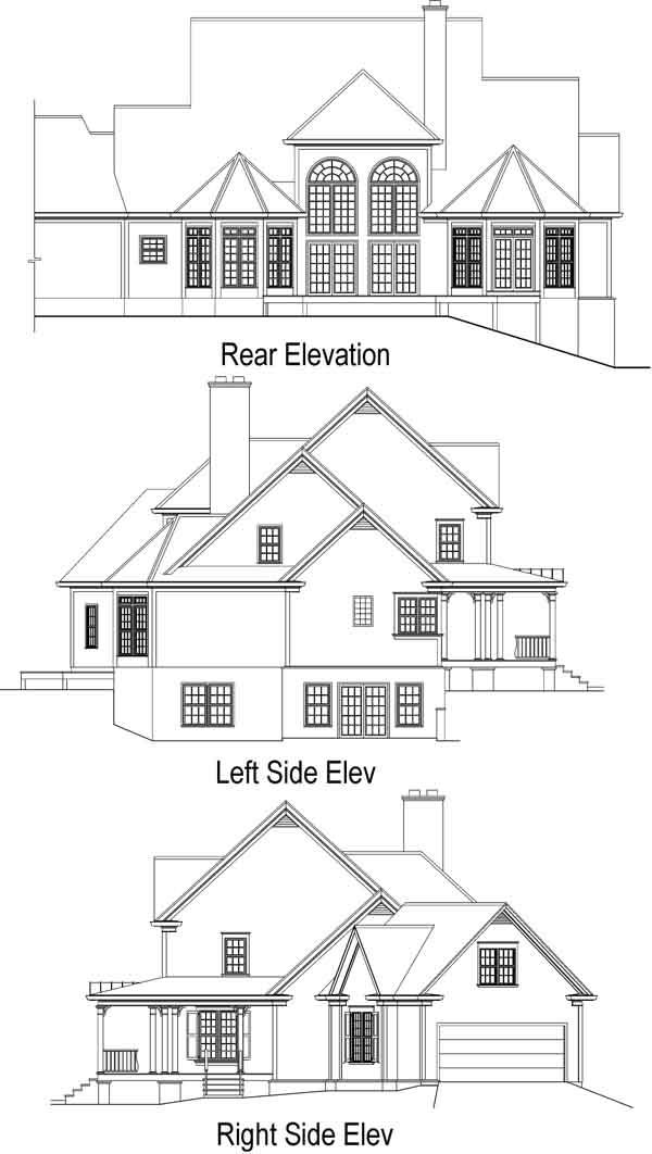 Rear Elevation Plan: 48-113