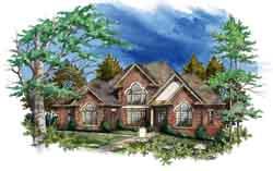 Traditional Style Home Design Plan: 48-115