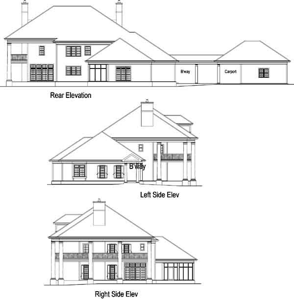 Rear Elevation Plan: 48-116