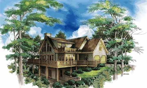 Country Style Floor Plans Plan: 48-117