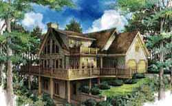 Country Style Home Design Plan: 48-117