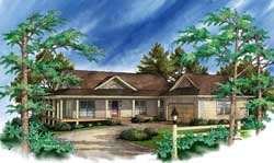 Traditional Style Home Design Plan: 48-120
