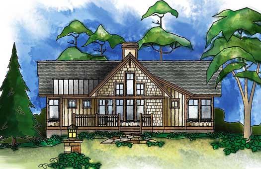 Craftsman Style Floor Plans Plan: 48-122