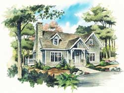 Country Style Home Design Plan: 48-128